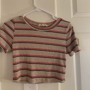 Adorable Ribbed/Striped Crop Top